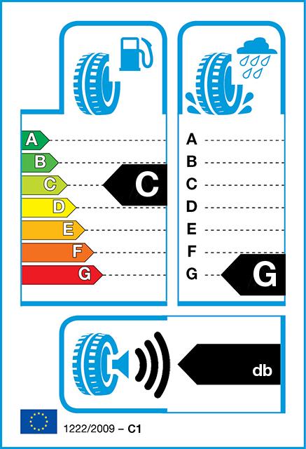 ec tyre label - Nokian WR C3 8- PR 205/70-15 (S/106) Kitkarengas talvirenkaat