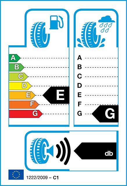 ec tyre label - Nokian WR A4 RunFlat XL 245/45-18 (V/100) Kitkarengas talvirenkaat