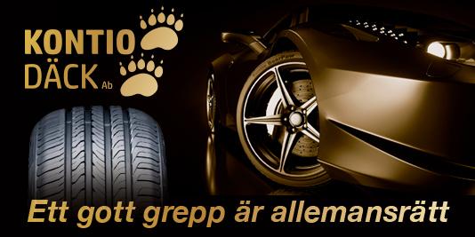 Kontio Däck rengasbanneri auto kevät 2019 Ruotsi