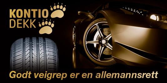 Kontio Dekk rengasbanneri auto kevät 2019 Norja