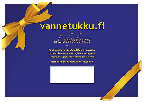 Vannetarvikkeet » Lahjakortti » Vannetukku.fi Lahjakortti 50 euroa - vannetukku.fi