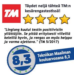 Linglongille täydet neljä tähteä TM-kesärengastestissä